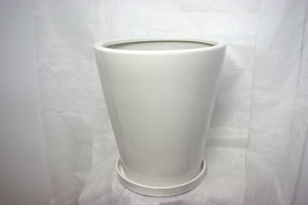 陶器鉢カバーホワイト8号
