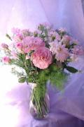 花瓶付花束(ピンク)