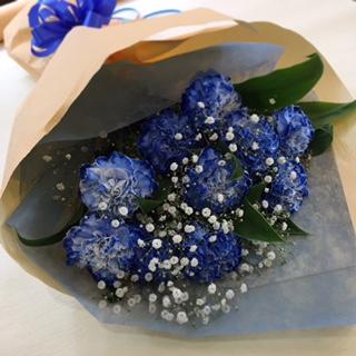 母の日 ブルーカーネーション花束 [HB-5000-2]