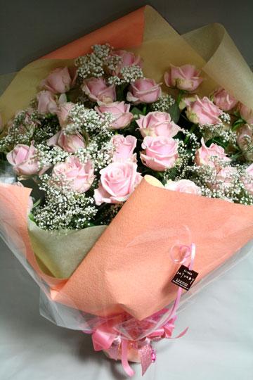 花束 ピンクバラ かすみ [B-15000-1]