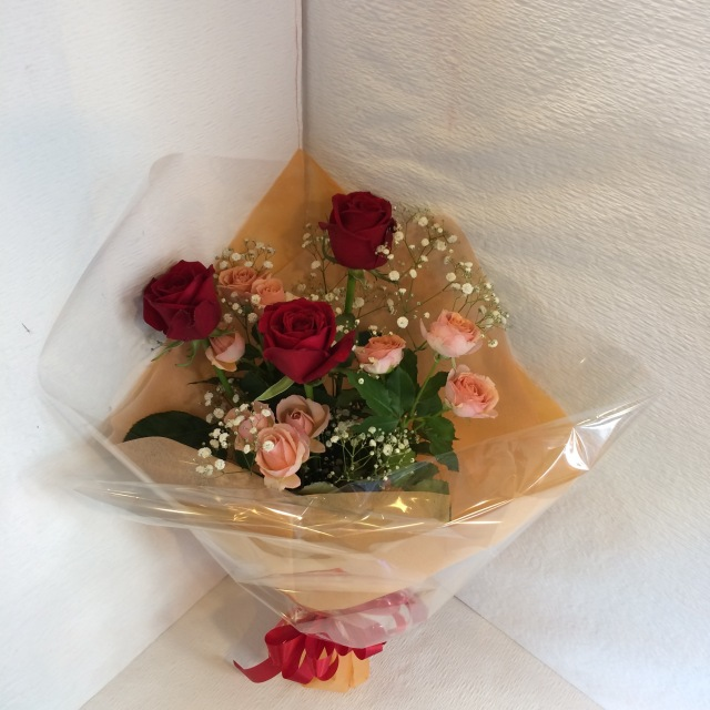 花束 バラ かすみ  [B-3000-3]