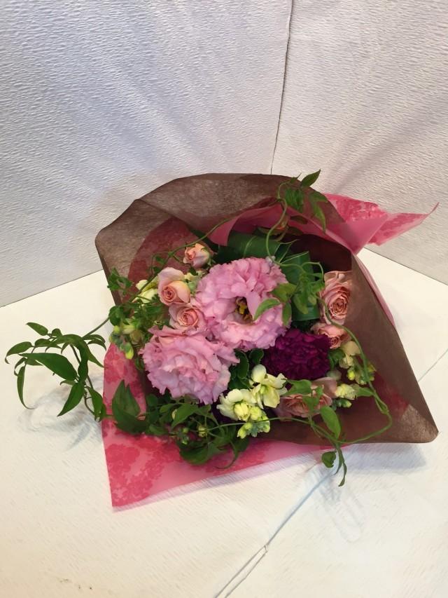 花束 トルコキキョウ 紫 [B-3000-8]