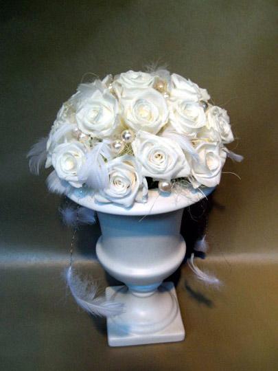 プリザーブドフラワー バラ ホワイト [P-20000-1]
