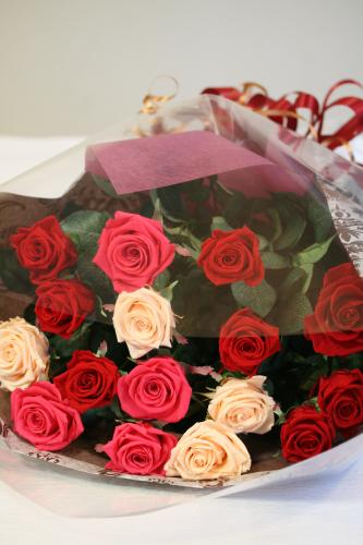 プリザードフラワー花束 バラ レッド [P-25000-1]