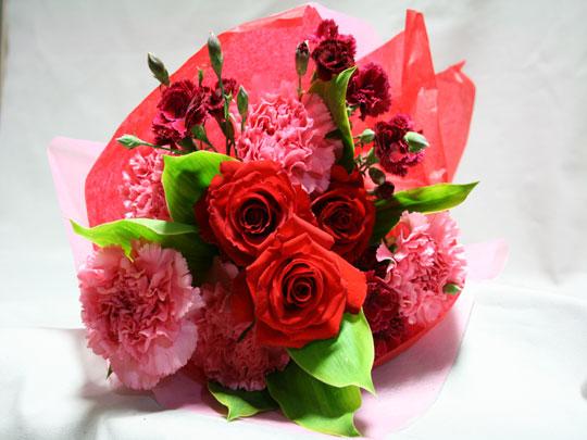 母の日 バラ・カーネーション花束 [HB-5000-1]