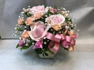 アレンジメント バラ ピンク [A-5000-8]
