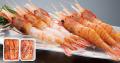 【波奈のお中元・送料無料】お刺身用牡丹海老・茹で牡丹海老食べ比べセット