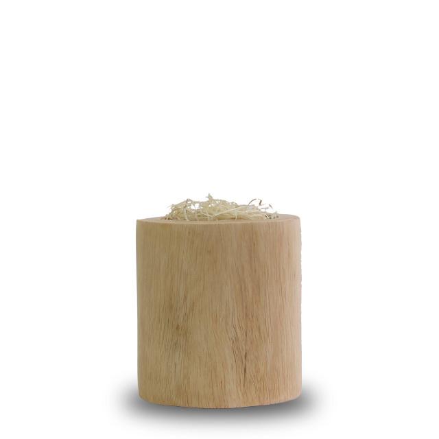 木の温もり感じる鉢「マルコ」鉢のみ|円柱形|ナチュラル