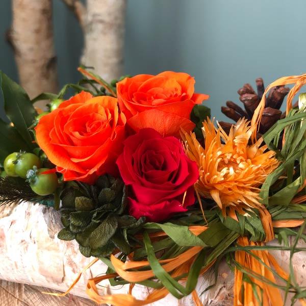プリザーブドフラワー 白樺アレンジ