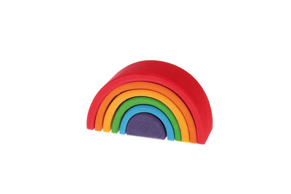 積木 グリム社(GRIMM'S) アーチレインボー(虹色トンネル)・ミ二
