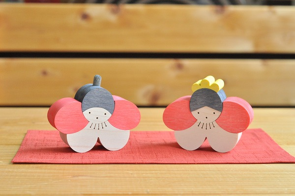 【新作】 雛人形 遊プラン・小黒三郎 梅の花立ちびな