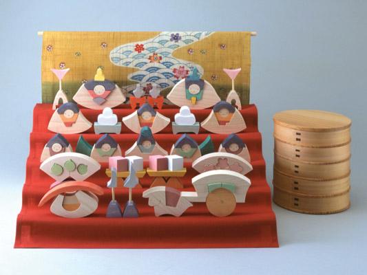 雛人形 遊プラン・小黒三郎 楕円びな五段飾り (特製垂幕つき) 《3年以上》