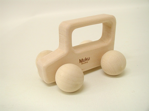 くるまのおもちゃ 無垢工房  カラコロ自動車 ナチュラル