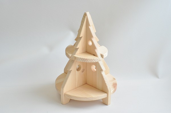 【クリスマス予約】 クリスマスインテリア HANAオリジナル木製ツリー ナチュラル