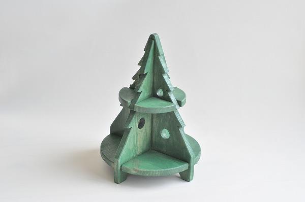 【クリスマス予約】 クリスマスインテリア HANAオリジナル木製ツリー グリーン