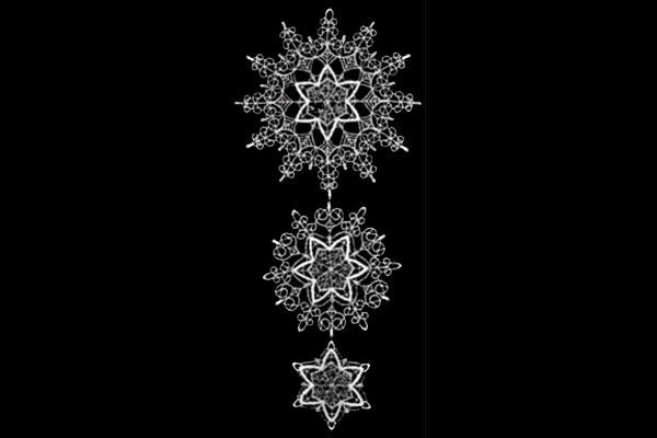 クリスマスインテリア スティックサービス社(Stickservice Patrick Vogel) レースハンガー 星屑・シルバー