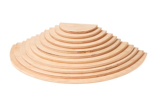 積木 グリム社(GRIMM'S) 半円盤・ナチュラル