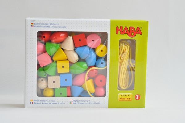 ひも通し ハバ社(HABA) カラービーズ・6シェイプ