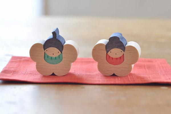 雛人形 遊プラン 椿の花びな(小)