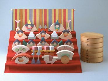 雛人形 遊プラン・小黒三郎 楕円びな五段飾り (普通垂幕つき) 《納期3年以上》