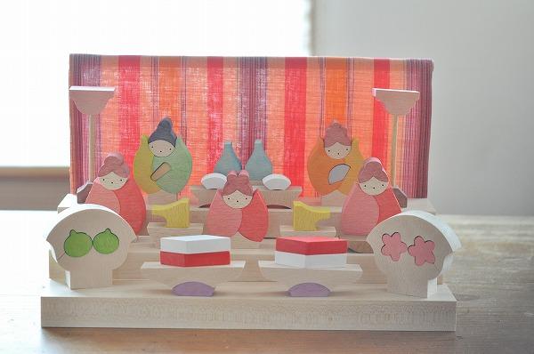 雛人形 遊プラン・小黒三郎 つぼみびな三段飾り 赤