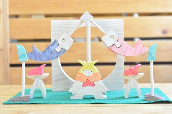 五月人形 遊プラン・小黒三郎 円武者とかがり火