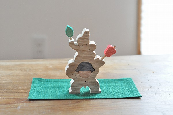 五月人形 遊プラン・小黒三郎 軍配を持つ金太郎とウサギ