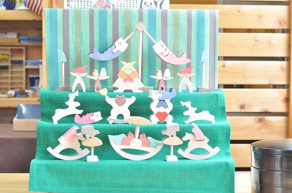 【垂幕緑在庫あり】五月人形 遊プラン・小黒三郎 円武者三段飾り(普通垂幕つき)