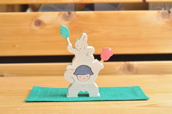 五月人形 遊プラン・小黒三郎 軍配を持つ金太郎とウサギ(小)