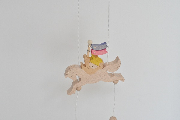 五月人形 遊プラン・小黒三郎 昇り人形 馬乗りかぶと童子