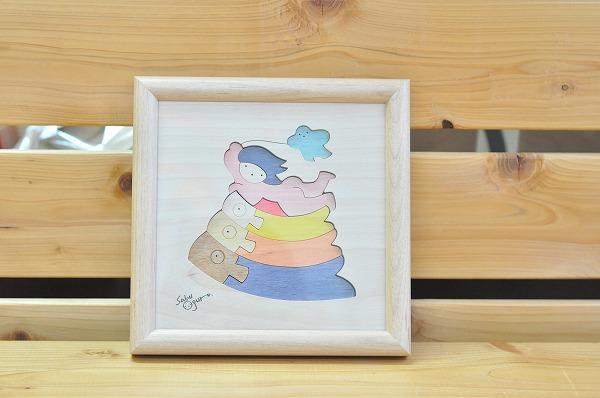【1セットのみ入荷】 五月人形 遊プラン・小黒三郎 組み木絵 鯉のぼりと金太郎