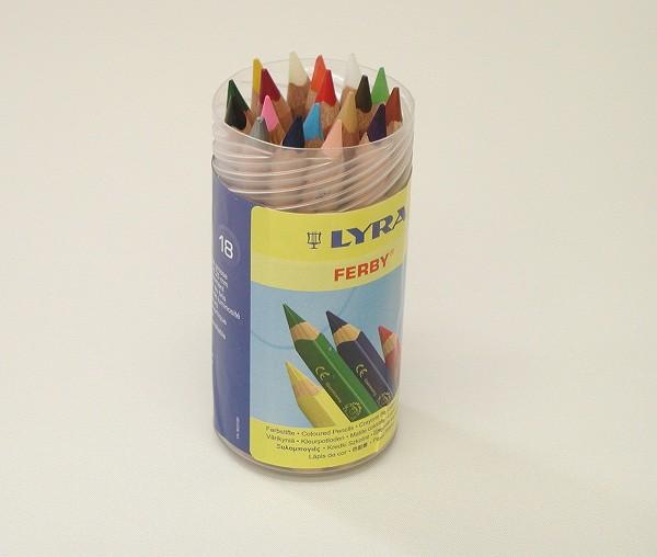 色鉛筆 LYRA(リラ社)  ファルビー 軸白木・18色・PPボックスセット