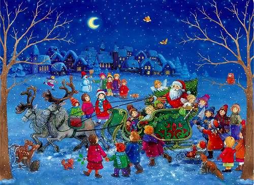 アドベントカレンダー・サンタのプレゼント