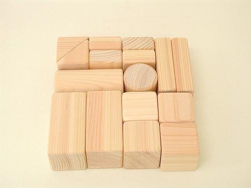 積み木 木遊舎  ひのきあかちゃんつみき(収納袋付)