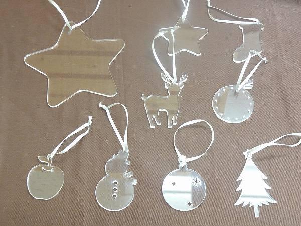 木のおもちゃHANAオリジナル クリスマスオーナメントセット アクリル
