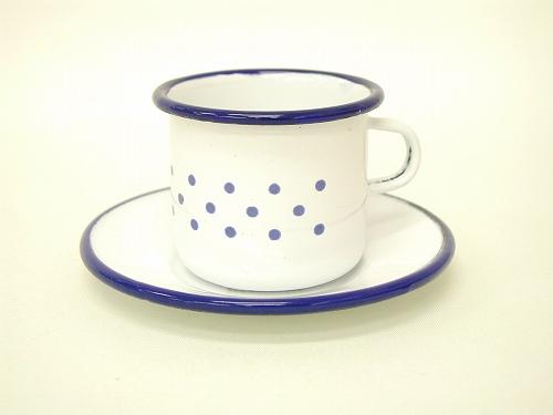 ままごと・食器 ケーファー社(Gluckskafer)  ホーローカップ&ソーサー