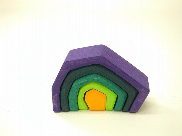 積み木 グリム社(GRIMM'S) エレメント積み木(小)・岩