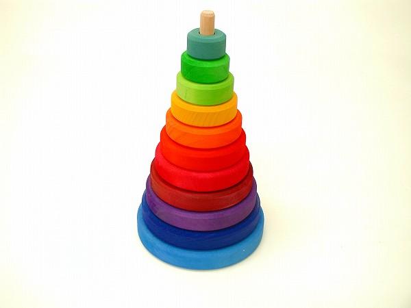 形を楽しむおもちゃ グリム社(GRIMM'S) 円錐積木 (大)