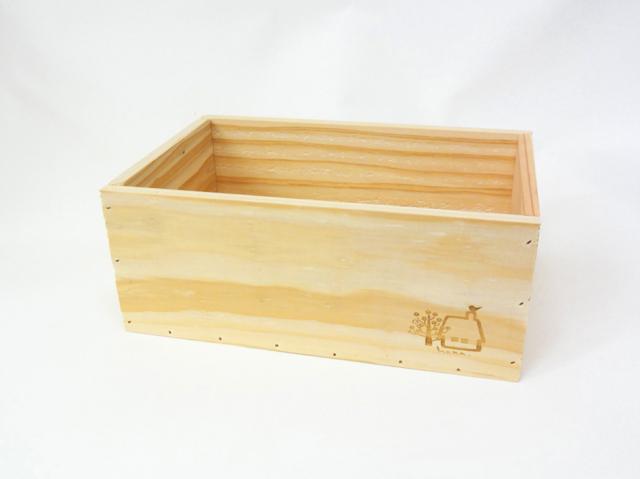 木のおもちゃ箱(小)-家