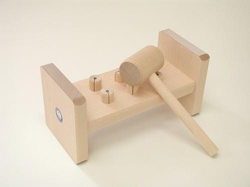 叩くおもちゃ ユシラ社(JUSSILA) ハンマートーイ 白木