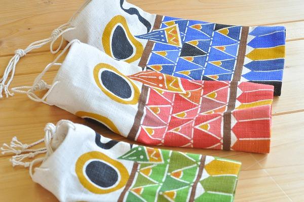 【納期2ケ月】【染色工房 ゆば】 型染め鯉のぼり4本組 ウロコ柄