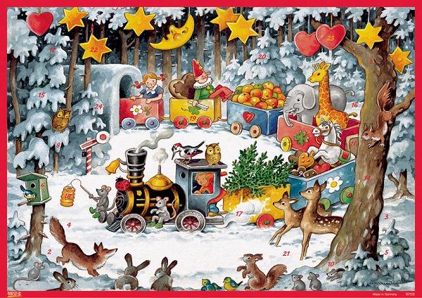 アドベントカレンダー・森の機関車
