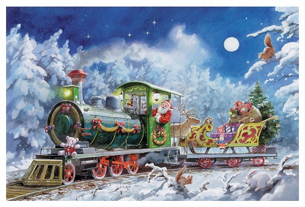 アドベントカレンダー・機関車サンタ
