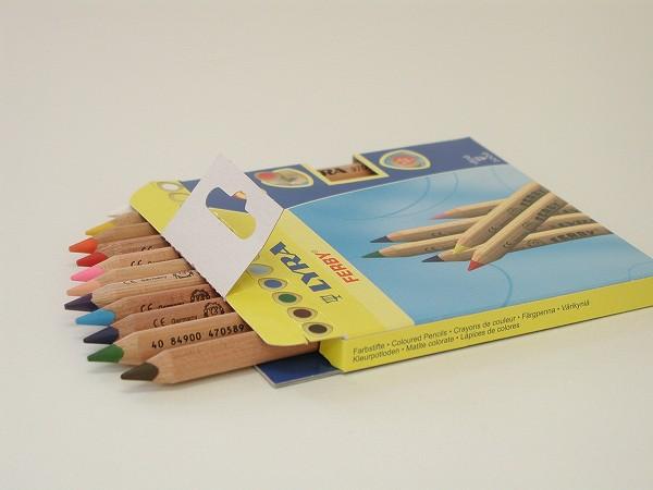 色鉛筆 リラ社(LYRA) ファルビー 軸白木・12色セット