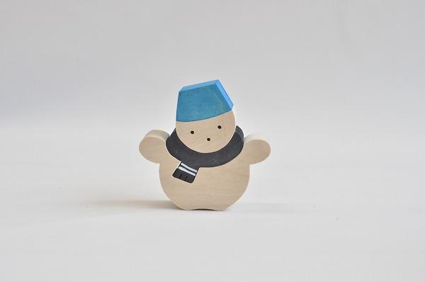 【木のおもちゃ杢】 クリスマス組み木オーナメント スノーマン