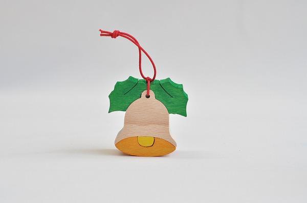 【木のおもちゃ杢】 クリスマス組み木オーナメント ベル
