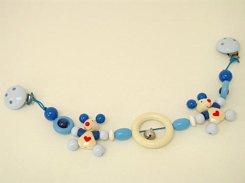 ベビーカーのおもちゃ ハイメス社(HEIMESS) ベビーカーチェーン・ねずみ(ブルー)