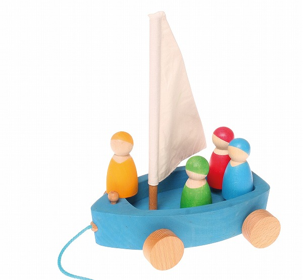 積み木 グリムス社(GRIMM'S) おでかけヨット