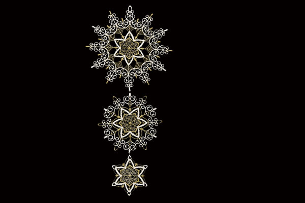 クリスマスインテリア スティックサービス社(Stickservice Patrick Vogel) レースハンガー 星屑・ゴールド