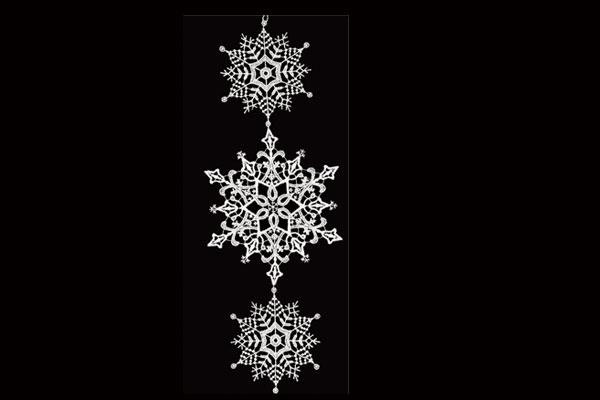 クリスマスインテリア スティックサービス社(Stickservice Patrick Vogel) レースハンガー 雪